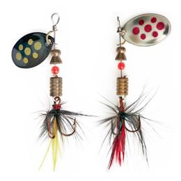 $enCountryForm.capitalKeyWord Australia - 1Pcs Spinner Spoon Metal Bait Fishin Lure Sequins Crankbait Spoon Baits for Bass Trout Perch Pike Rotating Fishing 4.5g 57mm
