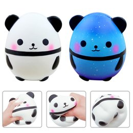 retail wholesales toys Australia - Factory INS Jumbo Squishy Kawaii Panda Bear Egg Candy Soft Slow Rising Stretchy Squeeze Kid Toys Relieve Stress Bauble Children's Day Gifts