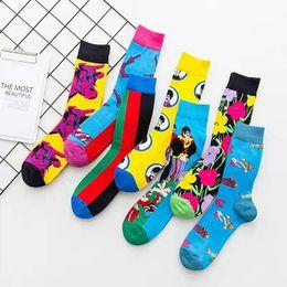 $enCountryForm.capitalKeyWord Australia - colorful casual socks for men famous brand fashion flowers cartoon fish cotton socks western hot sale stripe sports sock gifts EUR 40-46