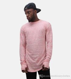 Mens Hiphop T Shirts Australia - Longline Mens Designer T shirts Long Sleeves Gloves Design O-neck Bottoming Hiphop Rapper Street Tops