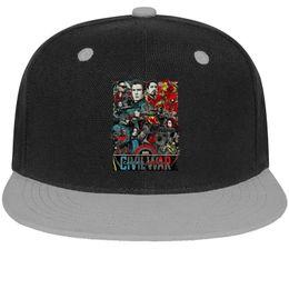 $enCountryForm.capitalKeyWord Australia - Captain America Civil War poster art Unisex Men Cap Women Hats Stylish Cotton Snapback Flatbrim Outdoor Hats Ball Caps for Men