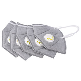 Respirator Masks Australia - 10Pcs Unisex Vertical Folding Nonwoven Valved Activated Carbon Anti Fog Dust Reusable Masks PM2.5 Respirator Mouth Mask Valve