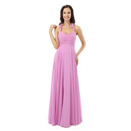 $enCountryForm.capitalKeyWord UK - Chiffon Halter New Women's Elegant Long Gown Party Proms For Gratuating Date Ceremony Gala Evenings Dresses Up C94