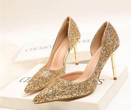 $enCountryForm.capitalKeyWord Australia - women high heels dress shoes party fashion Euro-American style shoes high heel pointed shiny sexy slim nightclub high heel single shoes 0010