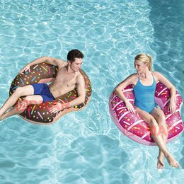 Wholesale Pool Toys Sale Australia - Inflatable Donut Swimming Ring Giant Pool Float Toy Circle Beach Sea Party Inflatable Mattress Water Adult Kid Hot Sale