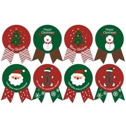$enCountryForm.capitalKeyWord Australia - 5 pc Vintage Christmas Theme series Badge Design DIY Multifunction Seal Sticker Gift Sticker Gift Label Holiday Party Supplies