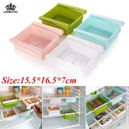 Toys Fridges Australia - Hot Sale Slide Kitchen Storage Boxes durable Fridge Freezer Space Saver Organizer Storage Rack Shelf Holder Drawer Free