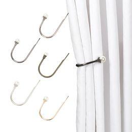 Arm tAssels online shopping - 2020 Fashion Simple Design U Shaped Curtain Hold Back Metal Tie Tassel Arm Hook Loop Holder