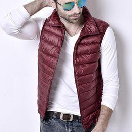 $enCountryForm.capitalKeyWord Australia - Sanishroly Autumn Winter Men Ultra Light Down Vests Jacket Male White Duck Down Vest Coat Slim Sleeveless Waistcoat Outwear S548