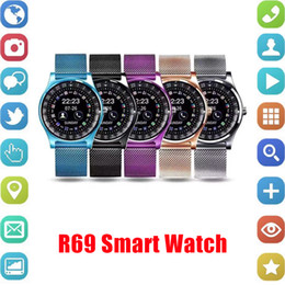 Bluetooth Smart Watch Sim Australia - R69 Smart Watch Bluetooth Smartwatches For Android Smartphones SIM Card Slot NFC Health Watchs for Android with Retail Box