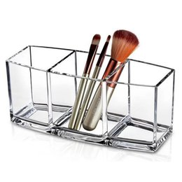 wholesale eco makeup brushes Australia - Acrylic Makeup Organizer Cosmetic Holder Makeup Tools Storage Box Organizadora Brush and Accessory Organizer Box Tool