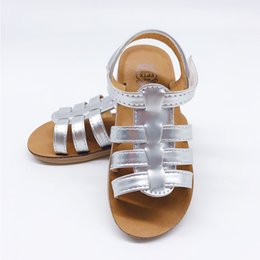 black patent leather toddler shoes Canada - Fashion Sandal Girls Summer 2019 Baby Shoes Outdoor Toddler Leather Sandals Roman Style Casual Princess Sandals Kids Shoes MX190727