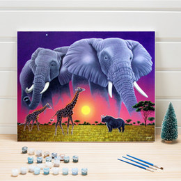 canvas painting for bedrooms,elephant oil paint,painting by numbers elephant on Sale