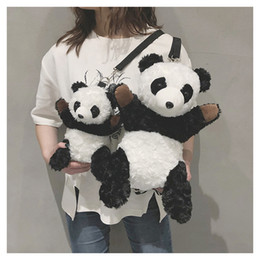 cross body backpacks girls NZ - Panda Unisex Womens Mens Child Students Cute 2 Sizes Shoulder Bag Chest Bag Cross Body Backpack Shoulders Bag Cartoon B102160Z