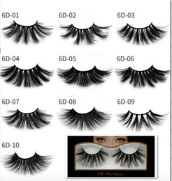Plastic Handmade Pack Australia - Newest Mink eyelashes makeup 6D mink lashes Soft Natural Thick Cross Handmade with pack 25mm Premium High Quality free shipping