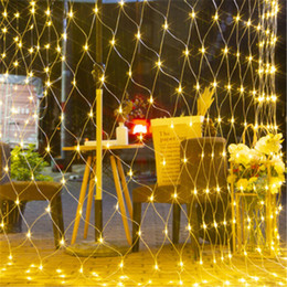 OutdOOr decOratiOn lamps online shopping - Led Net Lights110V V Wedding Decoration Christmas Fairy String Light Outdoor Holiday Festival Multi Outdoor Garden Lamp