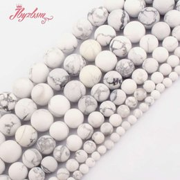 """White Coral Beads Australia - 4,6,8,10,12mm Frost Matte Round White Howlite Natural Stone Beads For DIY Necklace Bracelets Jewelry Making 15"""" Free Shipping"""