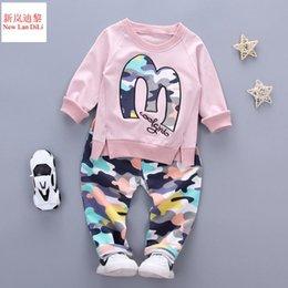 $enCountryForm.capitalKeyWord Australia - Baby Boy Autumn Clothes Girl Letter M Warm Cotton Clothing Set For Kid Camouflage Jackets Pant 2pcs Fashion Children Sports Suit