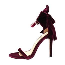 $enCountryForm.capitalKeyWord NZ - Star net red with summer high heel stiletto bow with a buckle with open toe sandals French sexy shoes