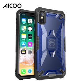 Wholesale Aicoo Transparent Armor Wing Robot Shockproof Case Rubber Rugged Tough Cover for iPhone XS MAX XR X Plus Samsung S9 OPP