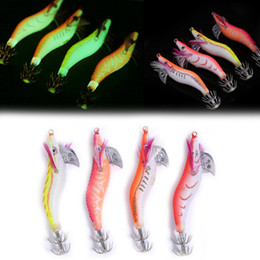 Fishing Plastic Shrimp Lures Australia - 4pcs Luminous Jigs Lure Fishing Shrimp Lure Bait Plastic 8cm Noctilucent Shrimp Bait Squid Shrimp Jig Lures Pesca Carp Fishing