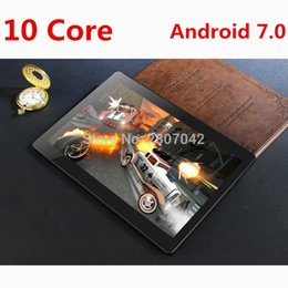 Discount inch kids tablet pc android - DHL Free 10 inch tablet 4G FDD LTE Deca Core 4GB RAM 64GB ROM 1920x1200 IPS Kids Gift Tablets 10 10.1 Android 7.0 Tablet