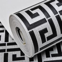 Roll White Paper NZ - Black-white Grey White Vertical Stripe Wallpaper Rolls for Walls Girls Baby Child Room 3d Stripe wall paper Roll 3d Wallcovering