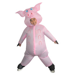 $enCountryForm.capitalKeyWord Australia - Funny Pink Pig Riding Suit Latest Inflatable Clothing Adult Men And Women Halloween Carnival Party Role Playing Toys