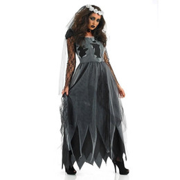 Wholesale cosplay costume for sale - Group buy Halloween Dress Black Corpse Bride Dress Lace Evil Princess Cosplay Costume Play Ghost Festiv Vampire Day of the Dead Halloween