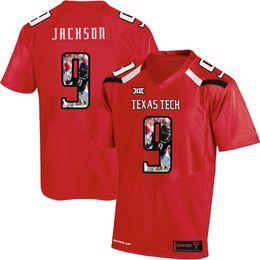 5dbfdc672 Mens Custom Branden Jackson Football Jersey Texas Tech USA Flag Fashion  Print High Quality Stitched College American Football Jerseys