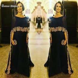 $enCountryForm.capitalKeyWord Australia - Long Chiffon A-Line Plus Size Wedding Gowns Prom Dresses With Wrap Gold Appliques Party Arabic For Groom