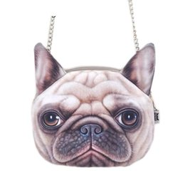 Dog Zipper Australia - good quality Cute Fashion Women Crossbody Bag Dog Face Head Animal Print Zipper Closure Small Shoulder Chain Bag Handbag Messenger Bag