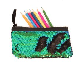 $enCountryForm.capitalKeyWord Australia - students pencil bags Mermaid sequins pencil case envelope clutch bag fish Scales