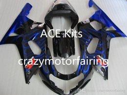 Black Blue Flame Australia - 3 gifts New SUZUKI GSXR600 750 K1 01 02 03 GSXR 600 GSXR 750 2001 2002 2003 ABS Injection mold Blue flame Black 10H