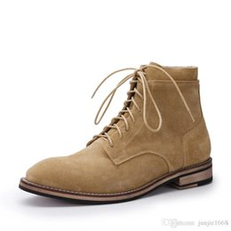 $enCountryForm.capitalKeyWord Australia - Europe and America Martin boots male style comfortable leather high-top shoes Alice head lace hair stylist suede leather men's boots