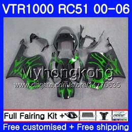 $enCountryForm.capitalKeyWord Australia - Green flames Kit For HONDA VTR1000 RC51 SP1 SP2 00 01 02 03 04 05 06 257HM.18 RTV1000 VTR 1000 2000 2001 2002 2003 2004 2005 2006 Fairing