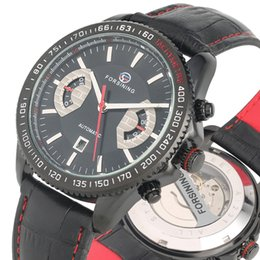 Classic Leather Watches For Men Australia - Classic Automatic Watches for Male Practical Calendar Dial Luminous Function Wristwatch Unique Leather Red Suture Band Watch for Men