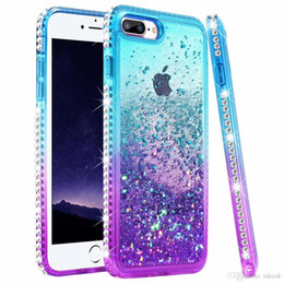 girly iphone cases Australia - Liquid Diamond Glitter Girls Phone Case for iPhone XR 6 7 8 7Plus 8 Plus XS MAX X XS Quicksand Bling Sparkly Girly Protective Rhinestone