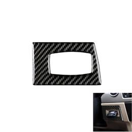 $enCountryForm.capitalKeyWord Australia - Carbon Fiber Car Engine Start Ignition Switch Decorative Frame Keyhole Sticker For BMW E90 E92 E93 Car Interior Modification Accessories