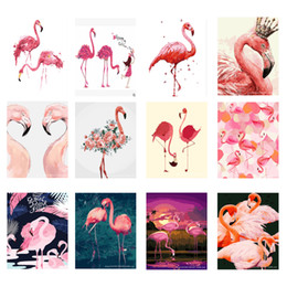 AbstrAct pAinting Art for kitchen online shopping - diy paints painting by numbers on canvas animals Flamingo modular picture for drawing in the kitchen home decoration wall art