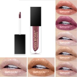 tinted moisturizers NZ - Makeup Moisturizer Glitter LipGloss Tint Cosmetics Nutritious Shimmer lasting Liquid Lipstick 7 color Beauty Lips