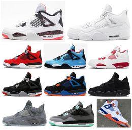 b17d86f1a24f81 High Quality 4 Pale Citron Alternate 89 Toro Bravo Basketball Shoes Men 4s  Black Cat Florida Gators Green Glow CAVS Sneakers With Box