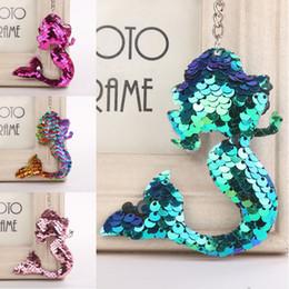 $enCountryForm.capitalKeyWord Australia - Free DHL Charm Mermaid Glitter Sequins Keychains For Women Pendant Jewelry Car Key Rings Fashion Keyrings Accessories 4 Styles H862Q F
