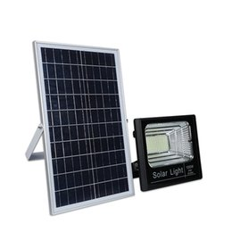 Chinese  Solar Flood Lights Lifepo4 Battery With Remote control+ Daylight Sensor+ Timing 120W 100W 60W 40W 20W Outdoor Garden Light Street Light manufacturers