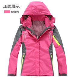 Winter Snow Suits Australia - Two Sets Women's Soft shell Snow Outerwear Coats The Clothing For female Jacket Winter waterproof Hooded SUit