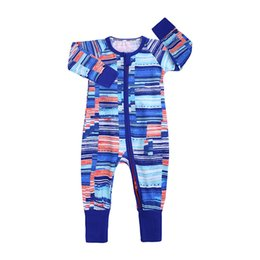 China Newborn Boy Rompers Boy Girl Jumpsuit Zipper Shirt Long Sleeve Round Neck Tight cuff Trousers Jumpsuits 32 cheap long tight jumpsuits suppliers