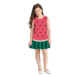 la robe UK - 2019 Baby Girl Summer Clothes Sleeveless Watermelon Print Princess Dress Girls Costumes Casual Little Girls Dresses La Robe Kids