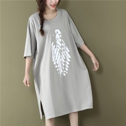 $enCountryForm.capitalKeyWord Australia - 2019 Summer Loose Women T-shirt Print O Neck Short Sleeve T-shirt White And Black Tops Plus Size Y190509