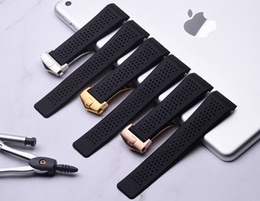 $enCountryForm.capitalKeyWord NZ - Watch Bands 22mm 24mm Watchbands for Tag Black Diving Silicone Rubber Holes Band Strap Stainless Steel Replacement