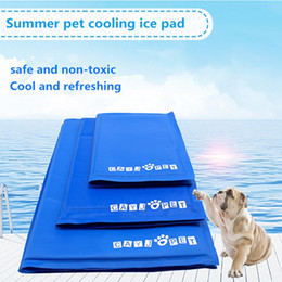 Discount cool blankets - Pet supplies Dog Cat Cooling ice Mat Bed Cool Gel Non-Toxic Blanket Canine Chilly Cushion Summer Ice Sofas Soft Cold Hou